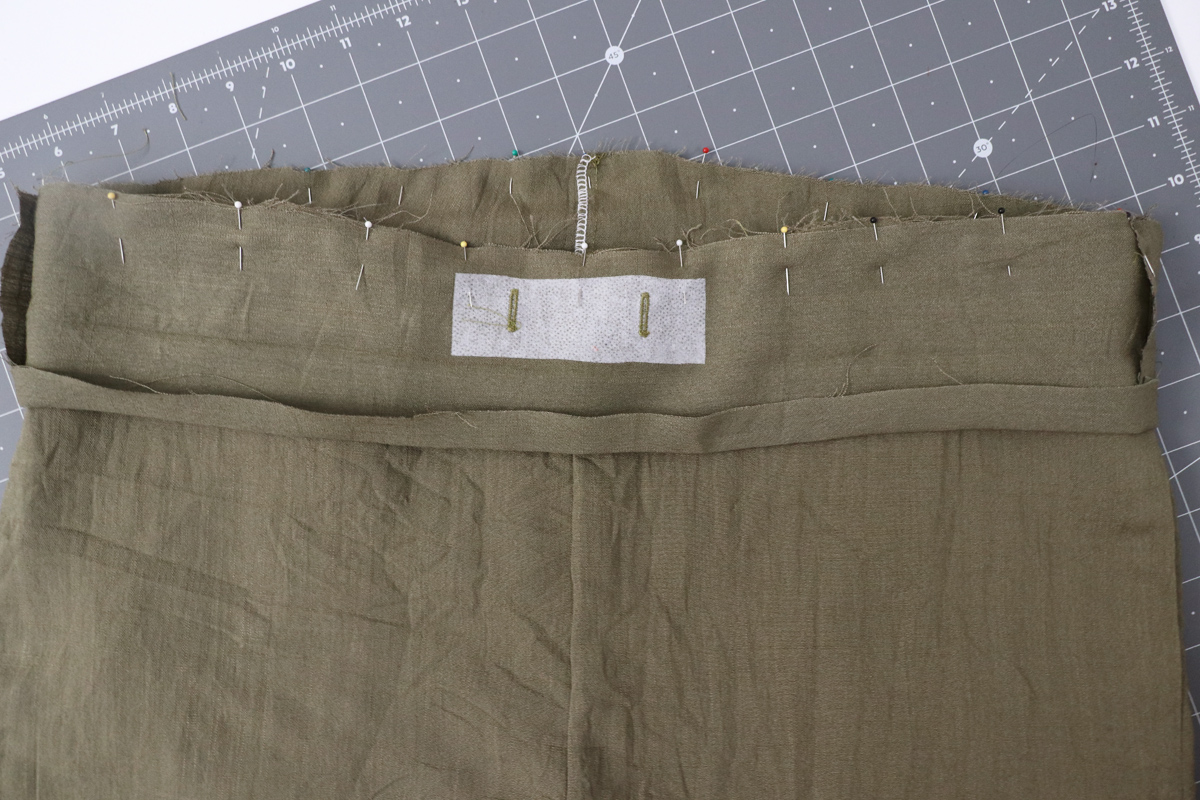 Opal Pants And Shorts - Drawstring Hack Step 7 - Attach Waistband To Garment