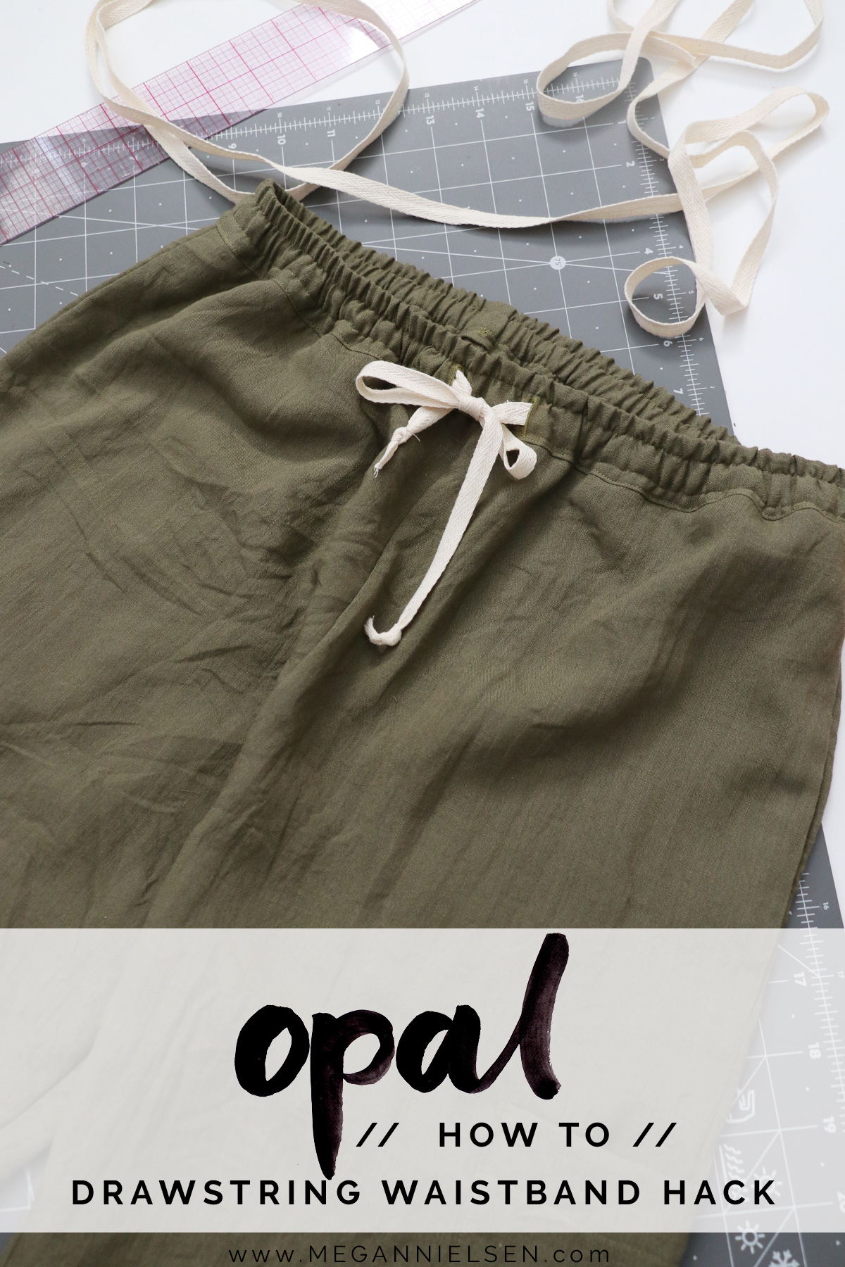 Opal Pants And Shorts - Hack Idea - How To Sew A Drawstring Waistband