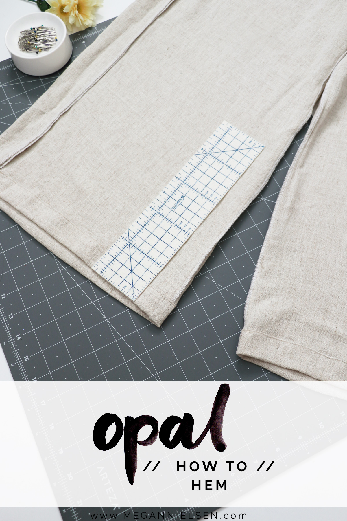 Opal Sewalong, final step, how to hem!