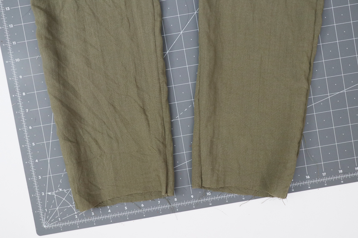 Opal Pants And Shorts - Elastic Hem Hack Step 1 - Starting With The Original Tapered Leg