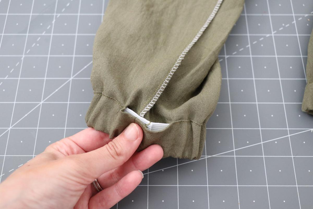 Opal Pants And Shorts - Elastic Hem Hack Step 8 - Closing Gap In Hem