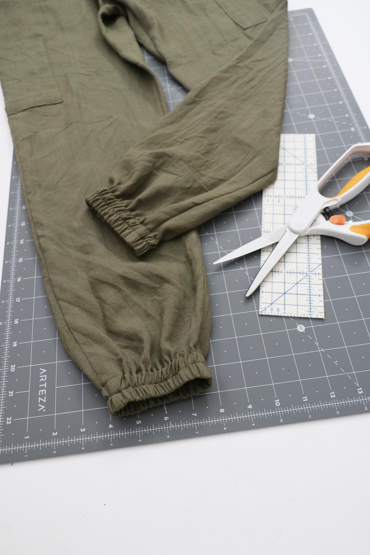 Opal Pants And Shorts - Elastic Hem Hack - Finished Result