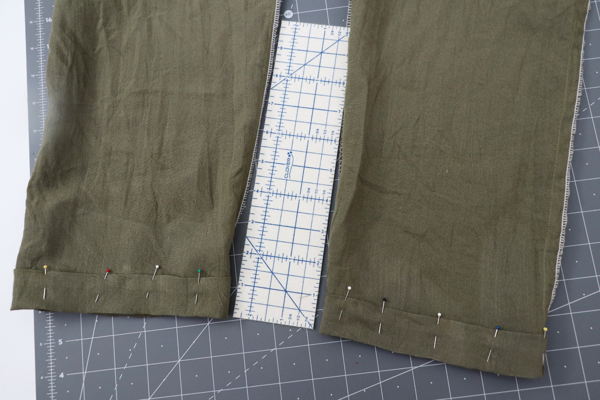 Opal Pants And Shorts - Elastic Hem Hack Step 2 - Folding Up Again To Enclose Raw Edges