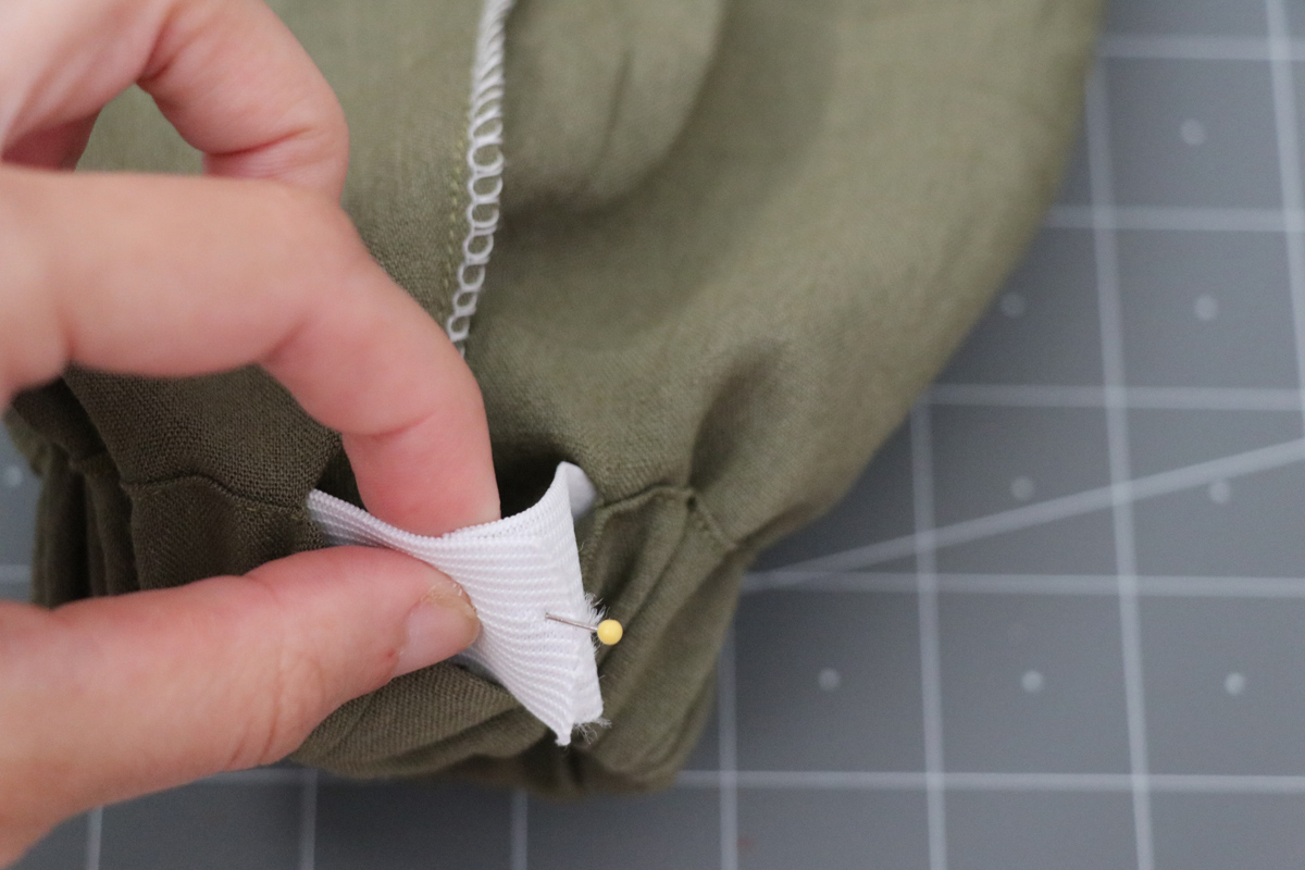 Opal Pants And Shorts - Elastic Hem Hack Step 6 - Overlapping Elastic Ends