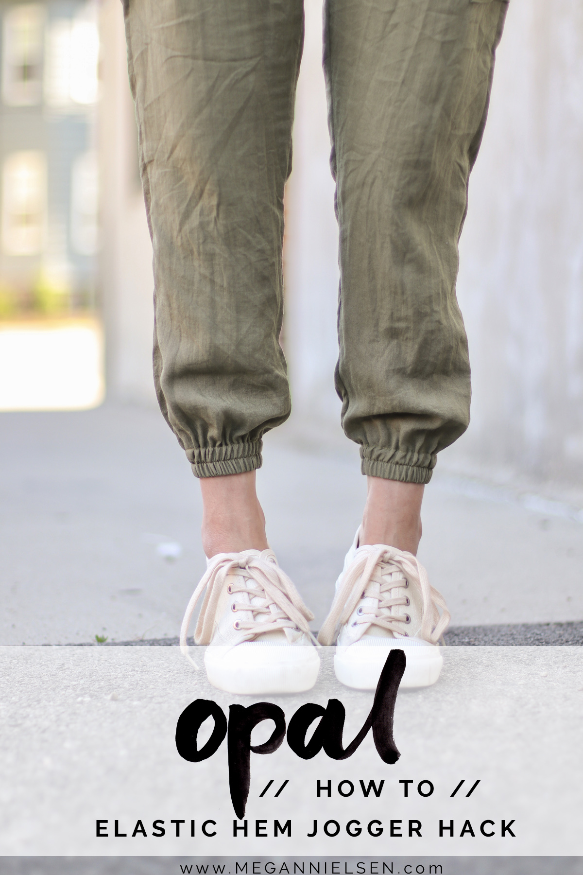 Opal Pants And Shorts - Hack Idea - How To Sew Elastic Hem Joggers