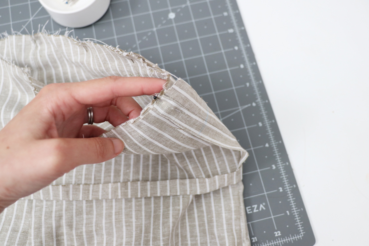 Opal Pant - Paperbag Waist Tutorial Step 8 - Match Side Seams