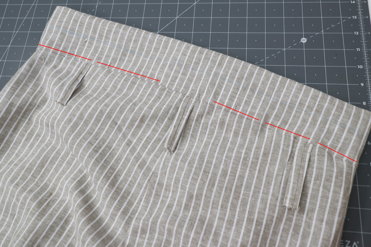 Opal Pant - Paperbag Waist Tutorial Step 13 - Leave Gap For Elastic