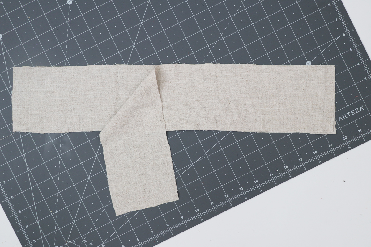 Opal Pants And Shorts - Standard Waistband Tutorial Step 1 - Waistband Pieces With Right Sides Together