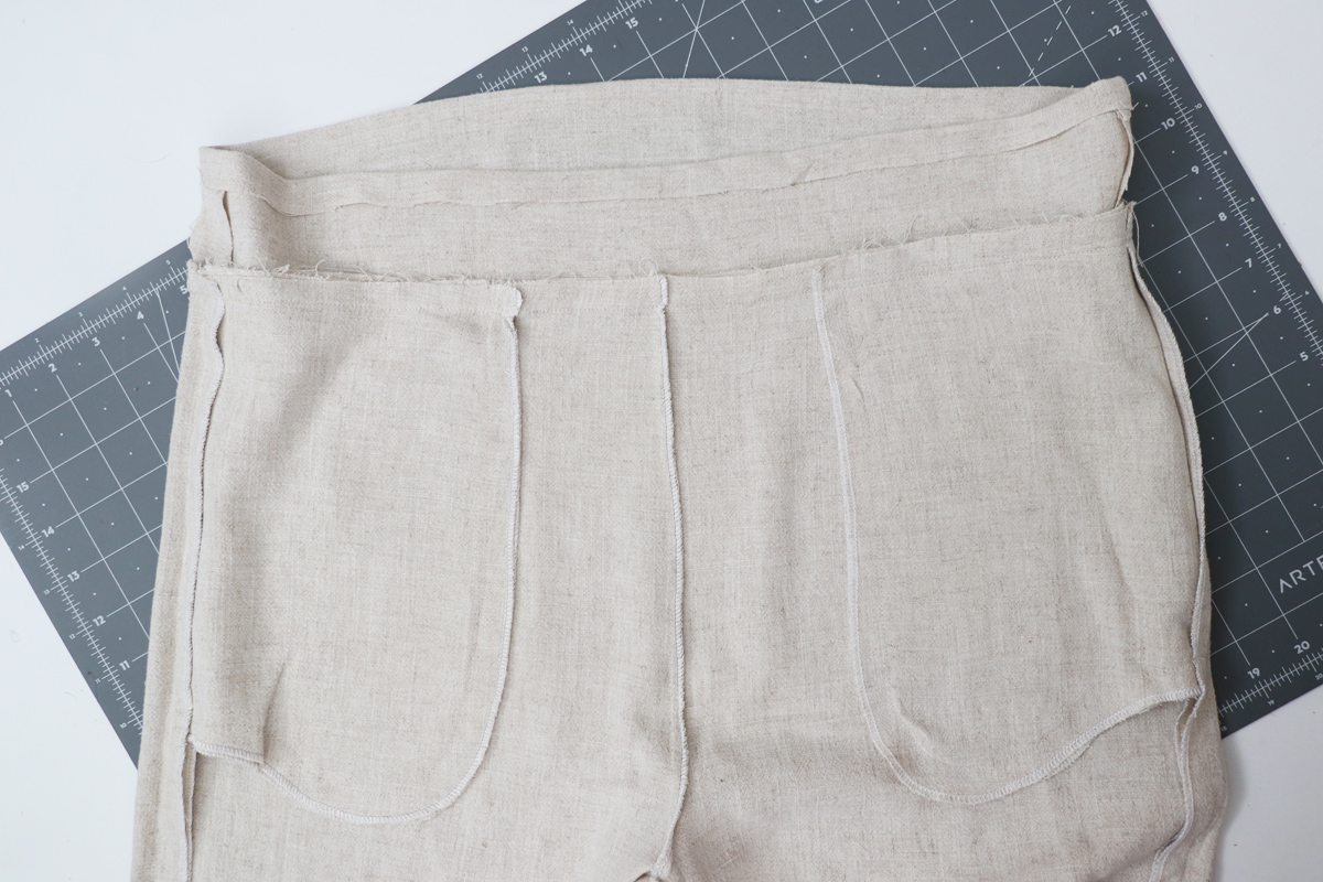 Opal Pants And Shorts - Standard Waistband Tutorial Step 9 - Press Seams Upwards