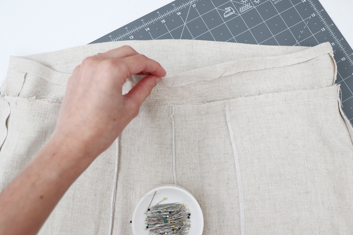 Opal Pants And Shorts - Standard Waistband Tutorial Step 10 - Fold Top Edge Down