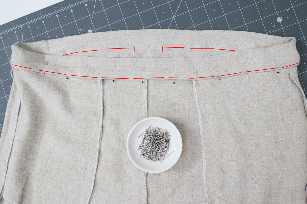 Opal Pants And Shorts - Standard Waistband Tutorial Step 12 - Top Stitch Or Ditch Stitch