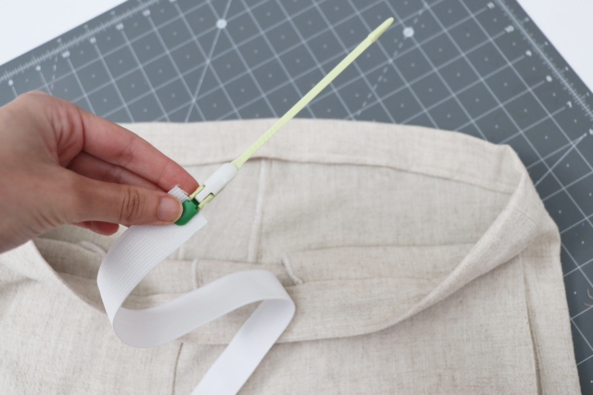 Opal Pants And Shorts - Standard Waistband Tutorial Step 13 - Measure And Cut Elastic