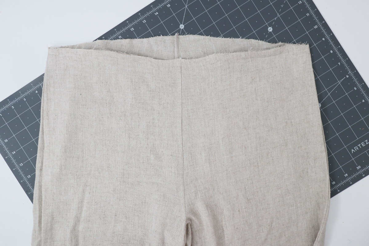 Opal Pants And Shorts - Standard Waistband Tutorial Step 6 - Start With Pants Right Side Out
