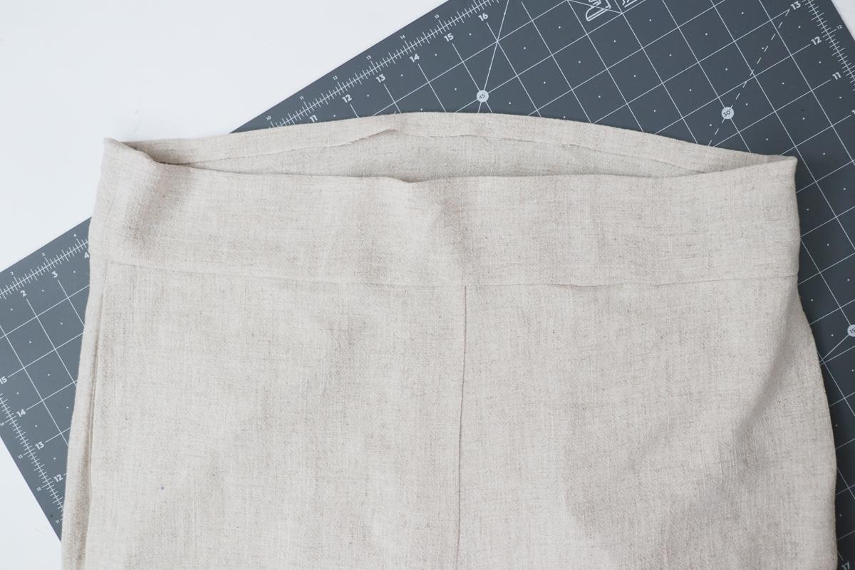 Opal Pants And Shorts - Standard Waistband Tutorial Step 9 - Press Seams Upward