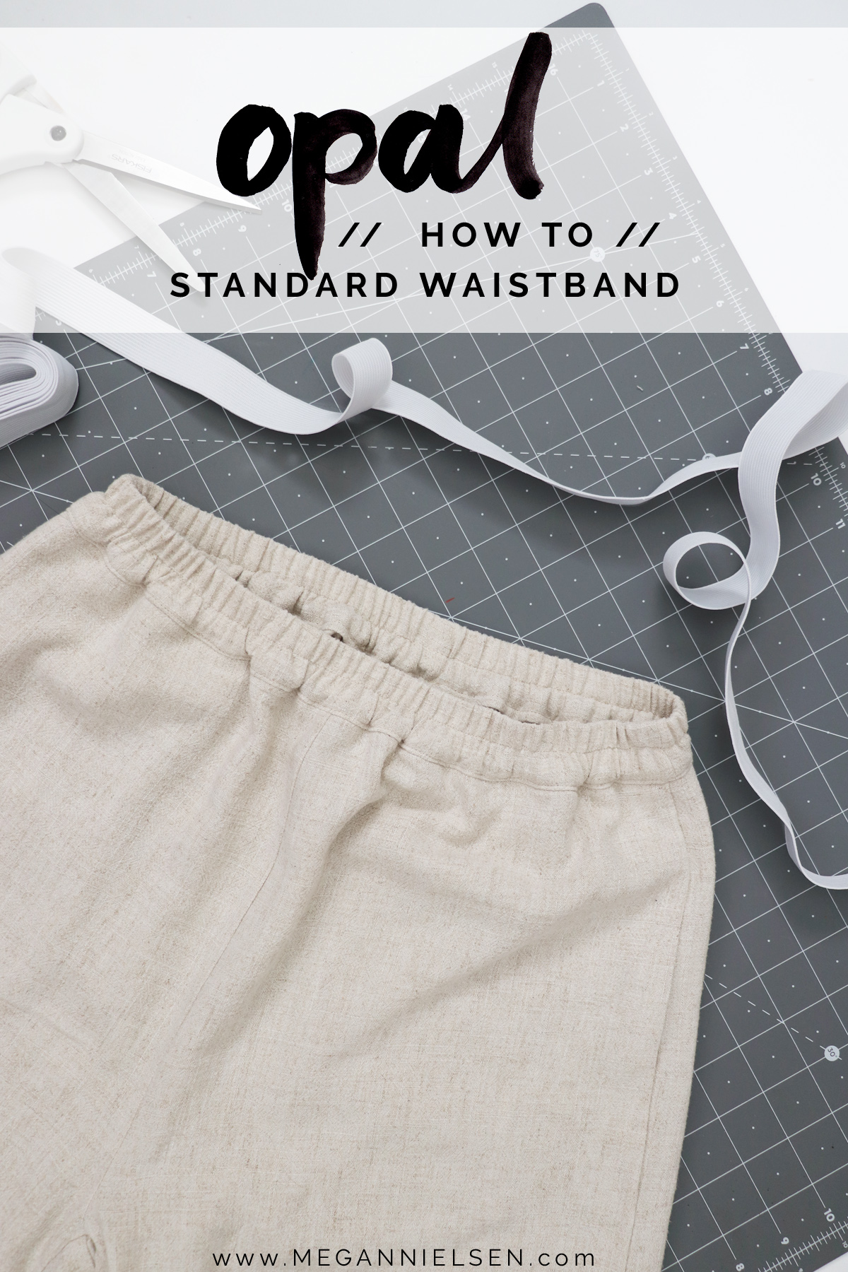 Opal Pants And Shorts - How To Sew The Standard Waistband For View B & D