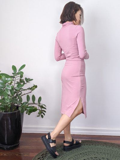The back view of the bodycon dress hack.