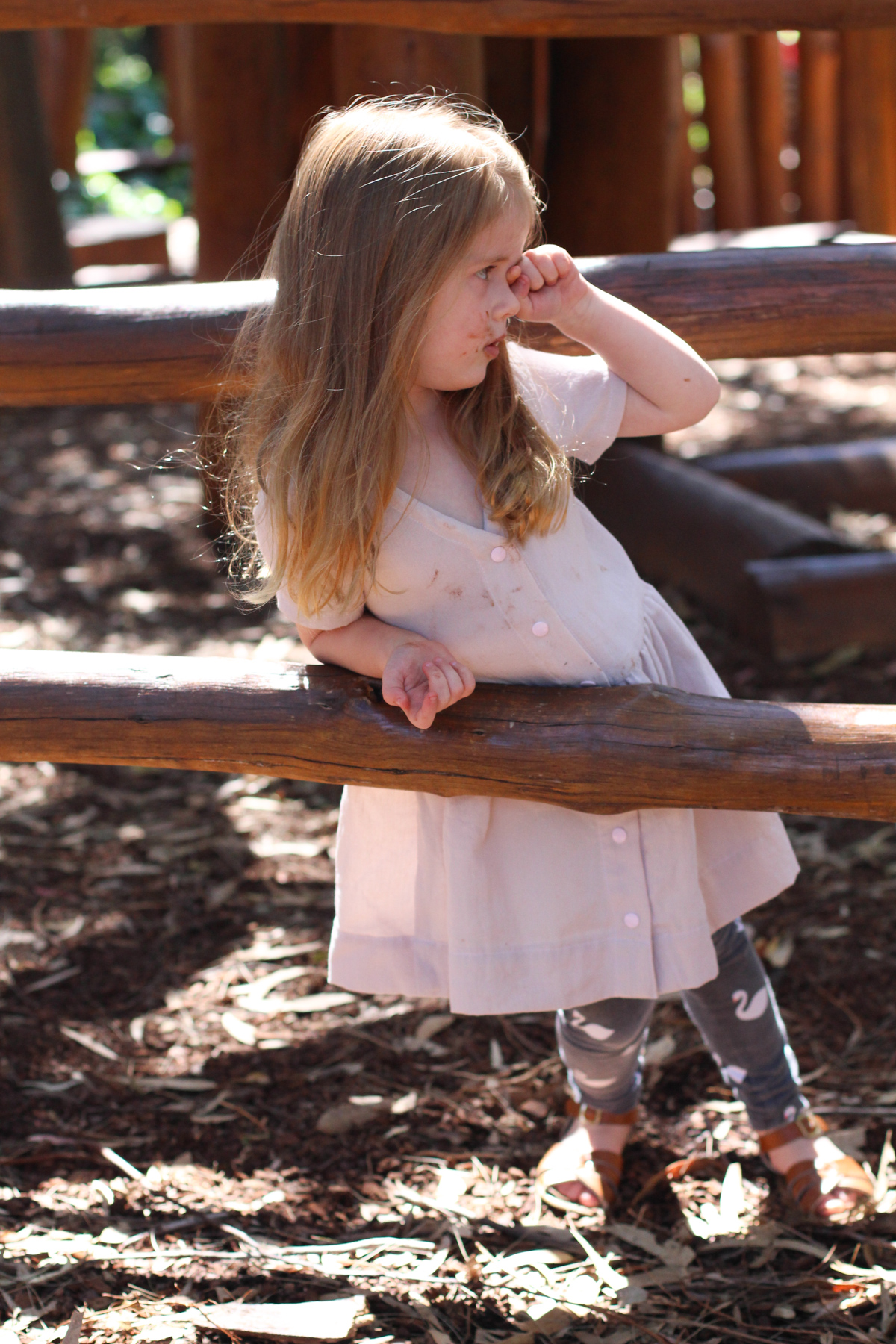 Birdie in the Mini Darling Ranges dress
