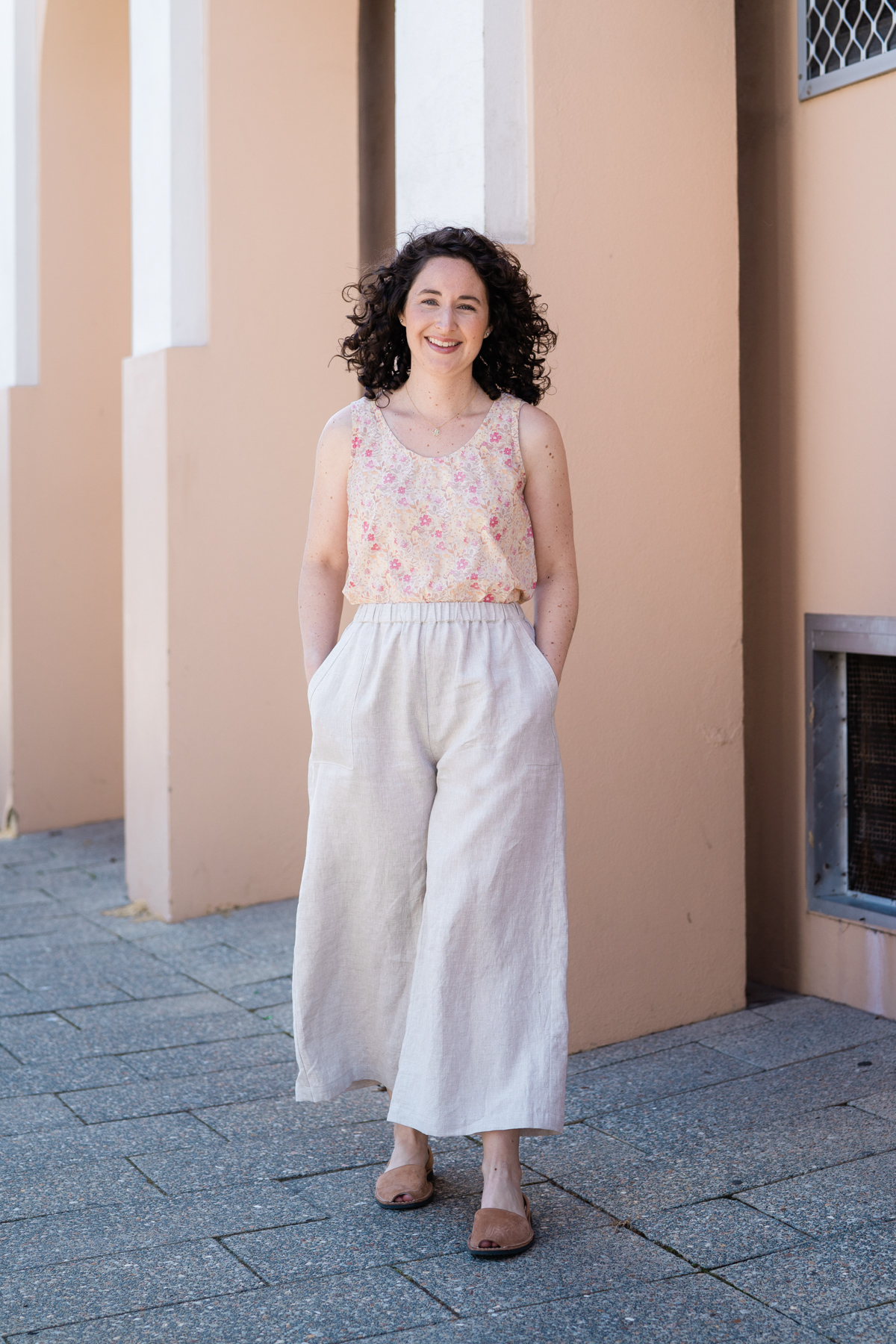 Opal pants + Eucalypt top Iso outfit by Megan Nielsen Patterns