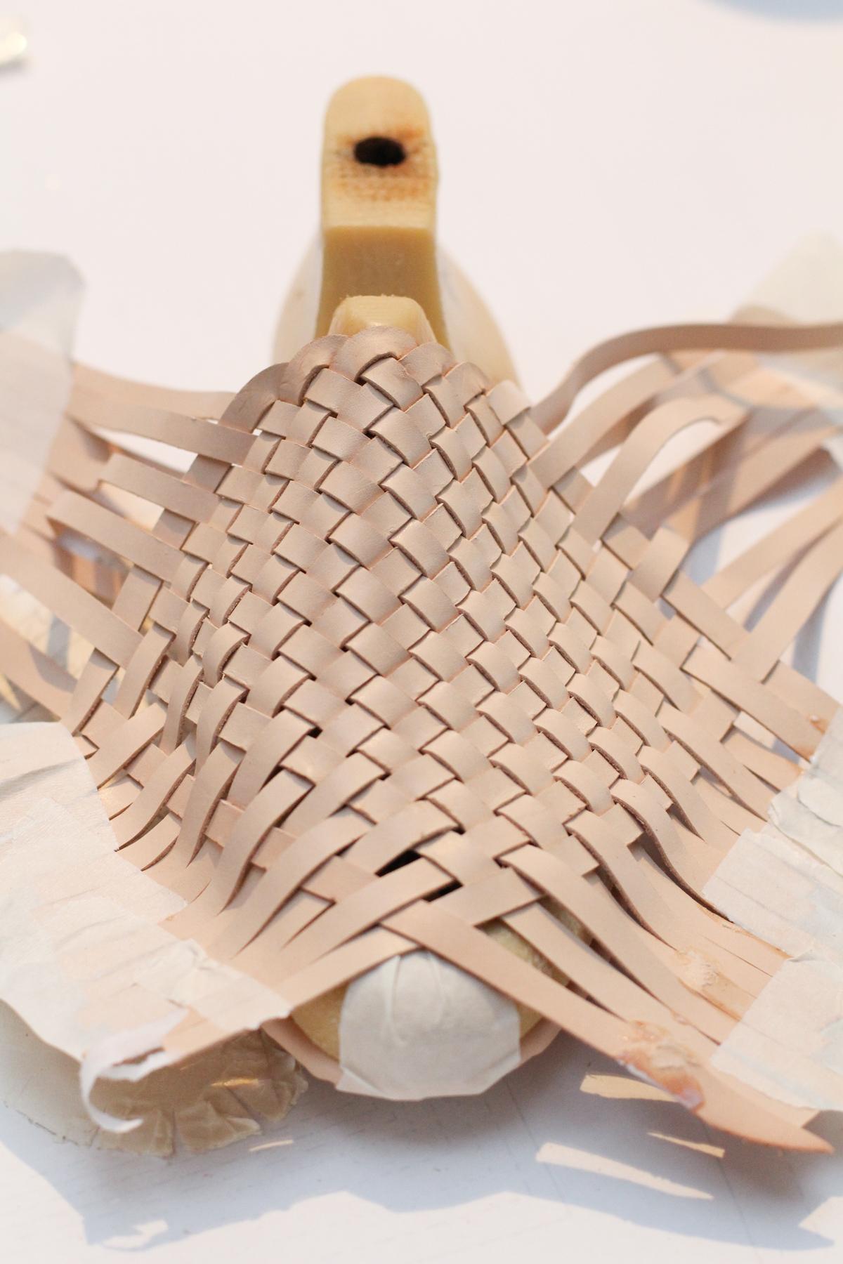 Making Basket Weave Mules - lasting the upper | Megan Nielsen Patterns Blog