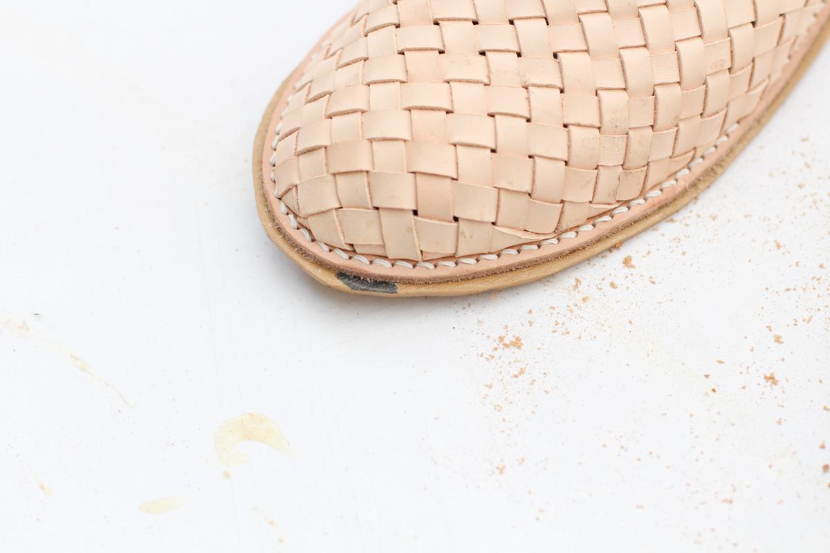 Making Basket Weave Mules - attaching soles | Megan Nielsen Patterns Blog