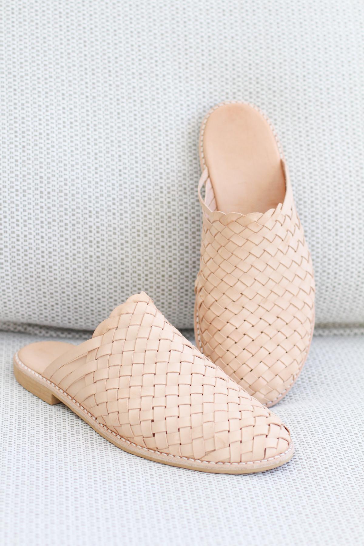 Megan Nielsen's Basket Weave Mules handmade shoes