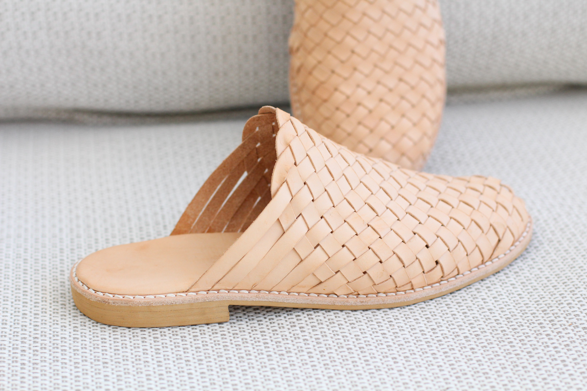 Making Basket Weave Mules - sanding edges | Megan Nielsen Patterns Blog