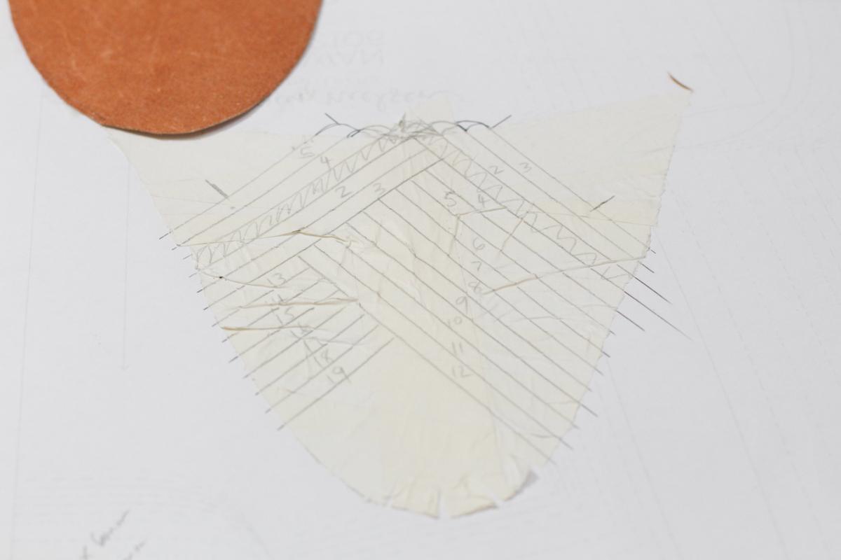 Planning the patter for Basket Weave Mules | Megan Nielsen Patterns Blog