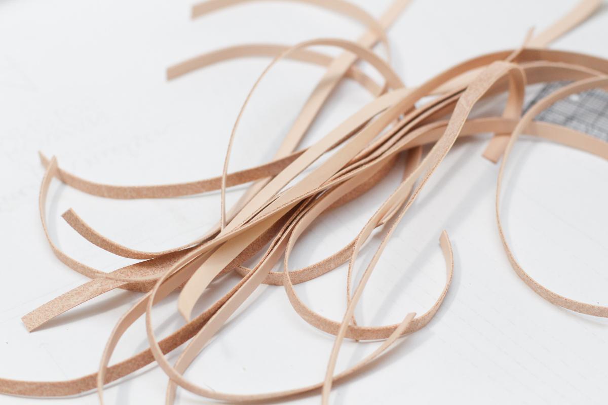 Cutting straps for Basket Weave Mules | Megan Nielsen Patterns Blog