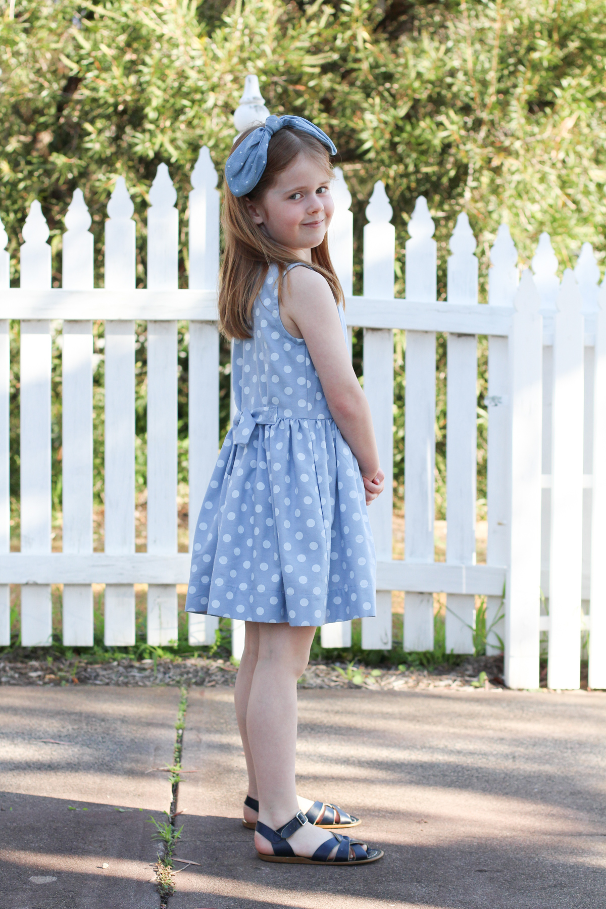 Birdie in her Mini Darling Ranges dress