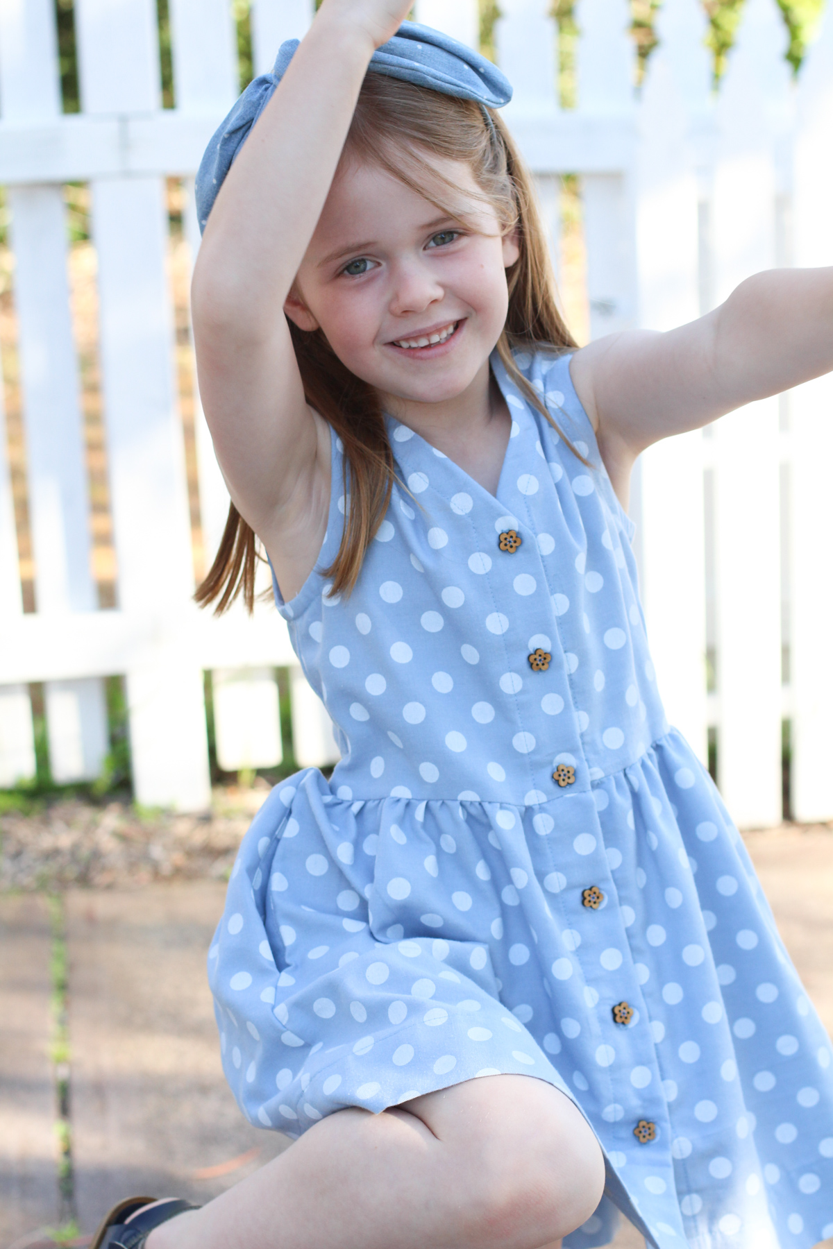 Birdie's Mini Darling Ranges dress with Arrow Mountain buttons