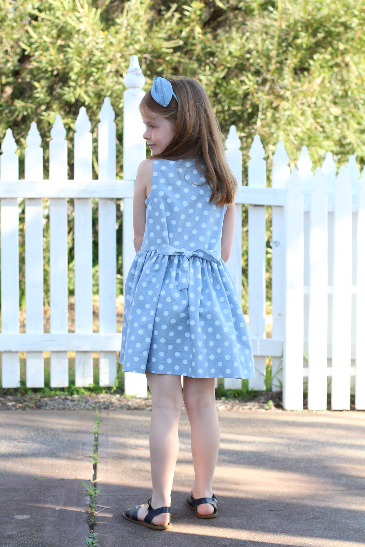 The back of the Mini Darling Ranges dress