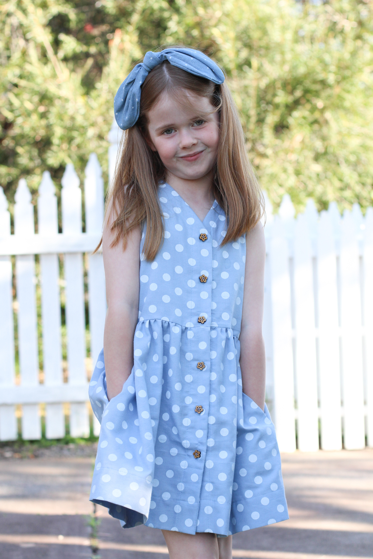 Polka dot Mini Darling Ranges dress - View C sleeveless with pockets