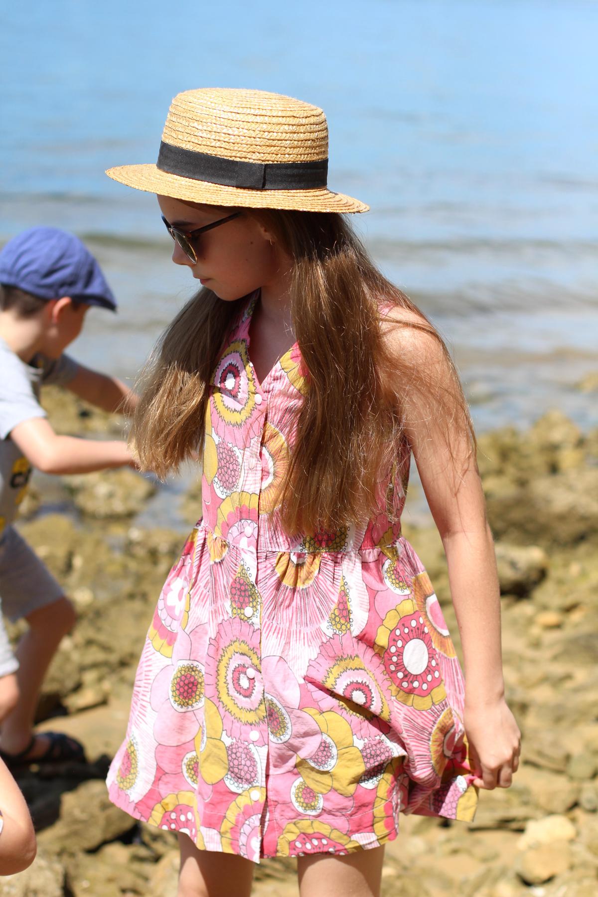 Bunny's Vintage Sheet Mini Darling Ranges dress // Megan Nielsen Blog