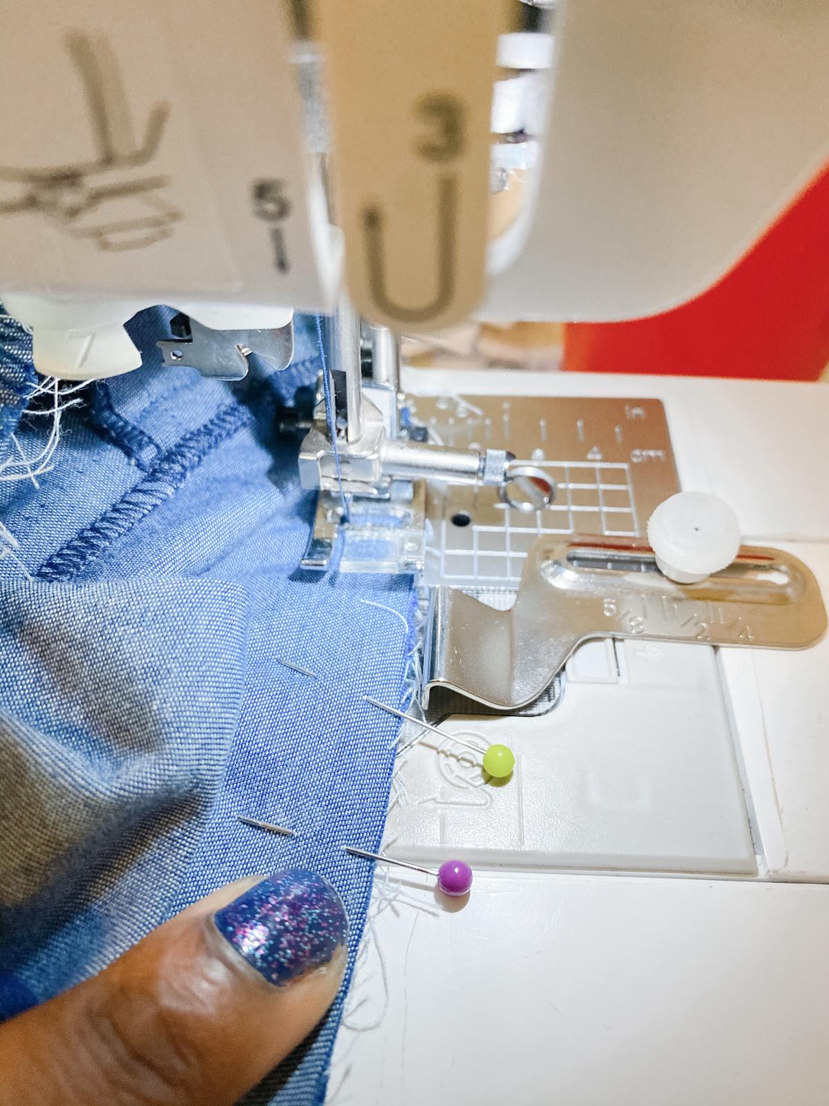How to add a ruffle sleeve hem to the Mini Darling Ranges dress // Step 13