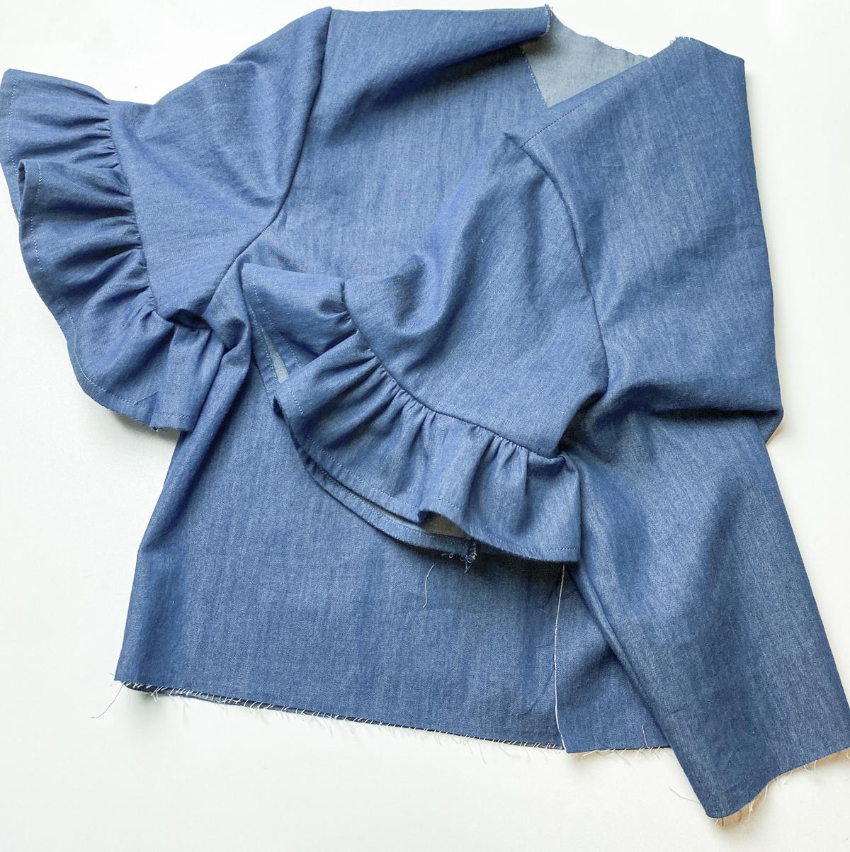 How to add a ruffle sleeve hem to the Mini Darling Ranges dress // Step 14