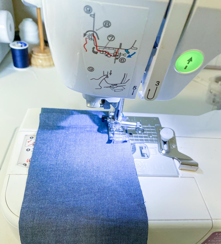 How to add a ruffle sleeve hem to the Mini Darling Ranges dress // Step 7