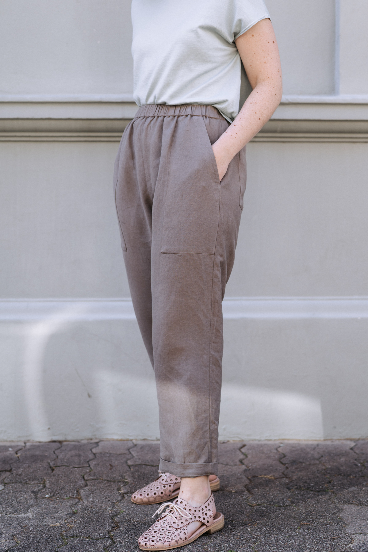 Detail on Megan Nielsen's Extended Pocket Opal Pants