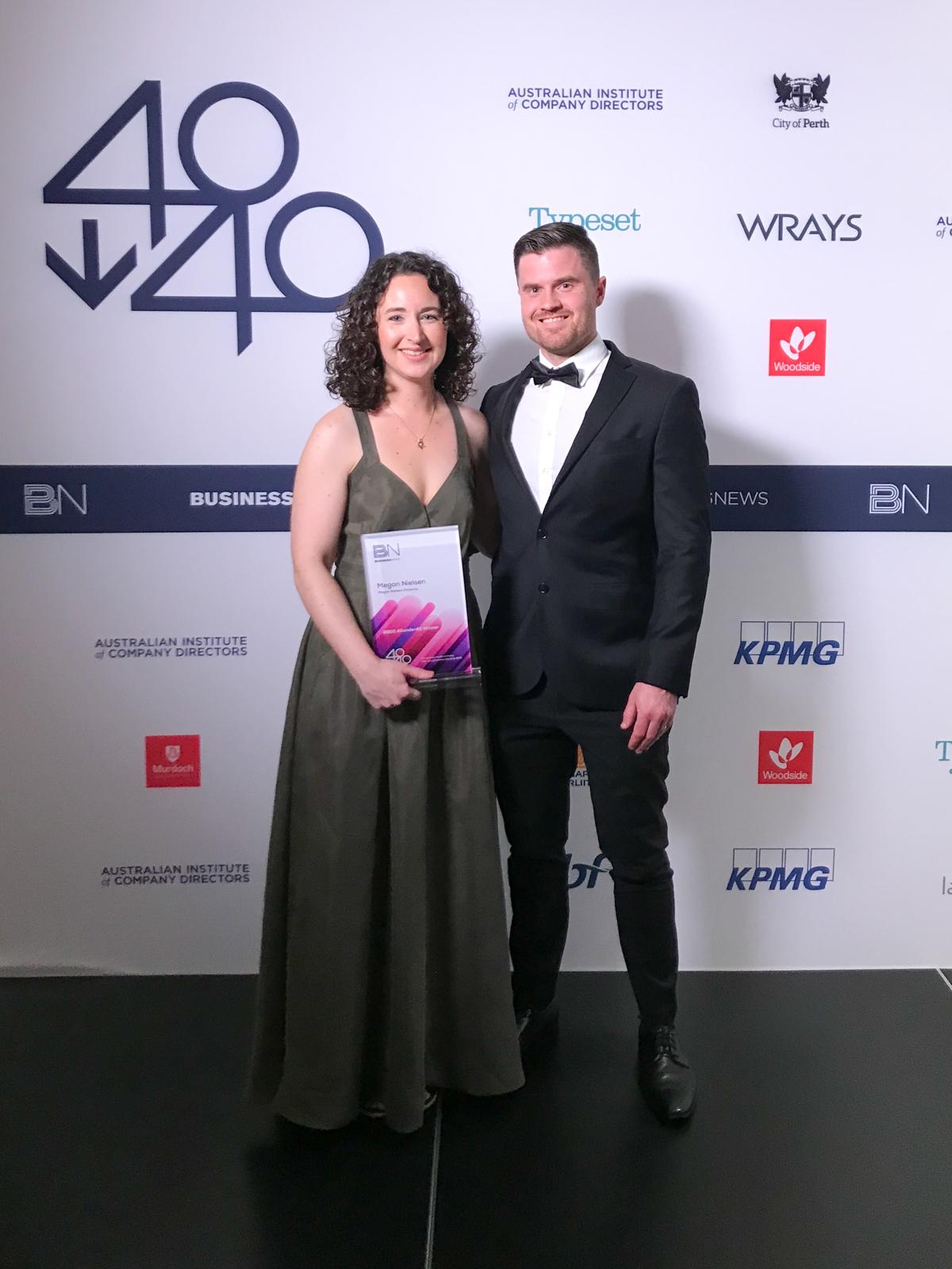 Megan Nielsen winner of the 40 Under 40 Business Awards in Western Australia