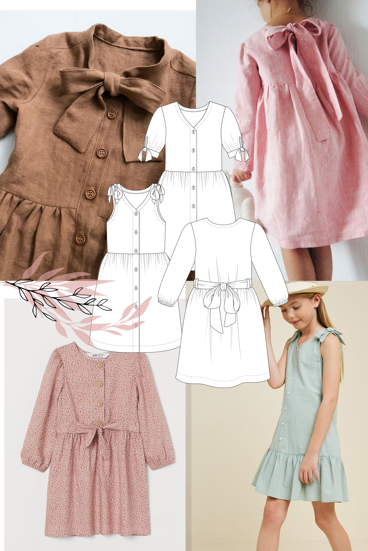 Add a bow or tie to your Mini Darling Ranges dress