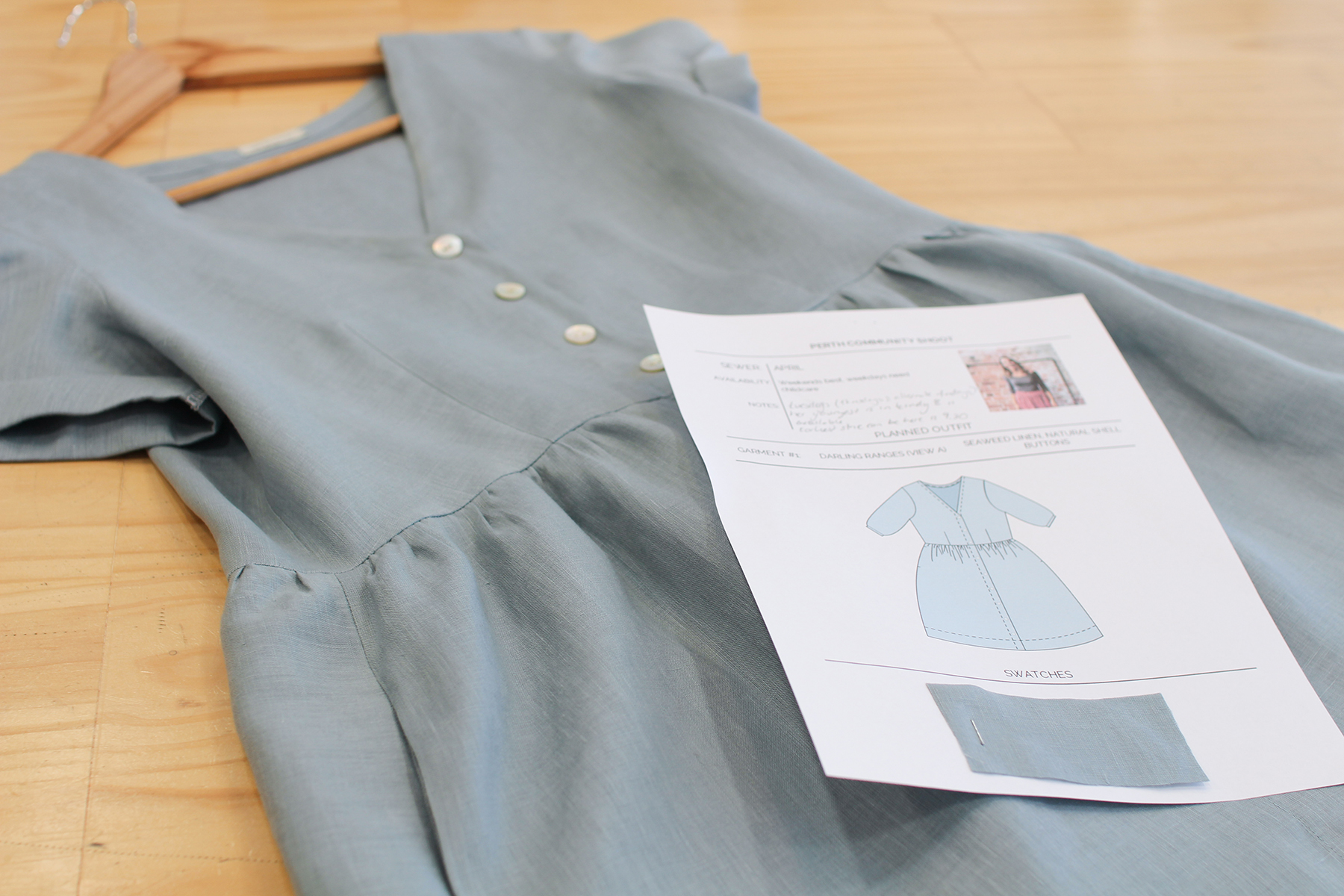 Sewing Community Project: Behind The Scenes - April's Outfit And Style Sheet