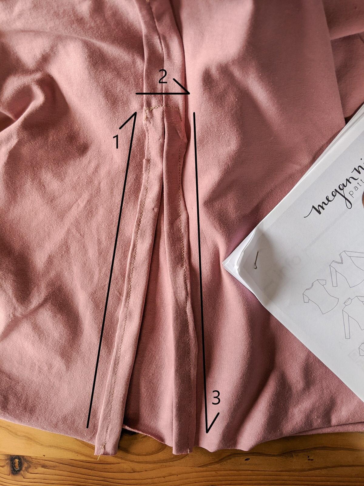 Sew along the folded seams.