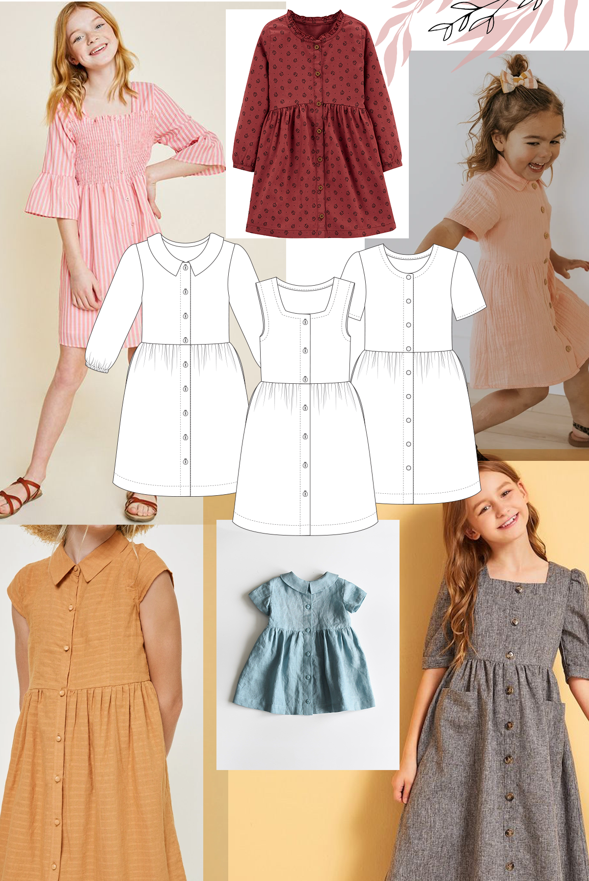 Add a different neckline to the Mini Darling Ranges for a different look