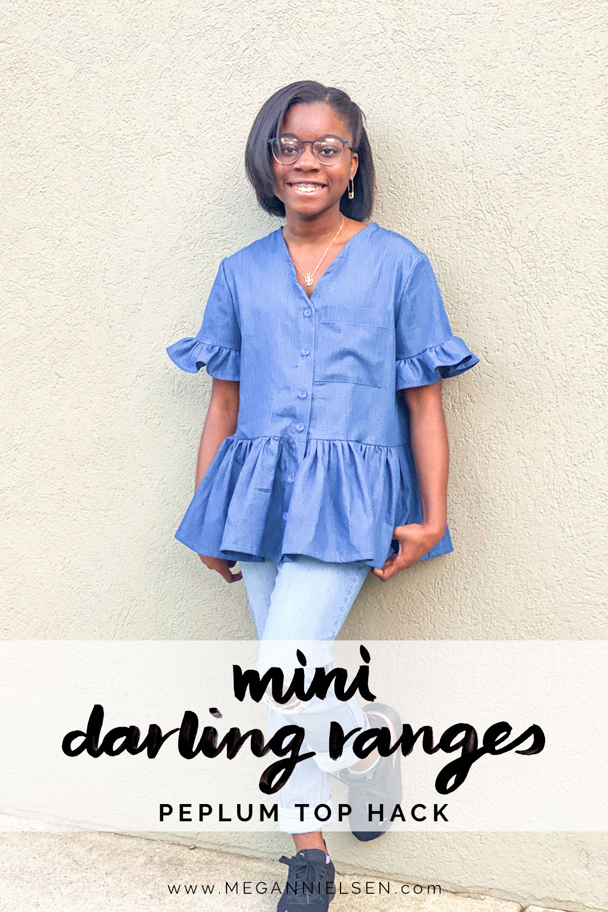 Time for a peplum top hack for Mini Darling Ranges!