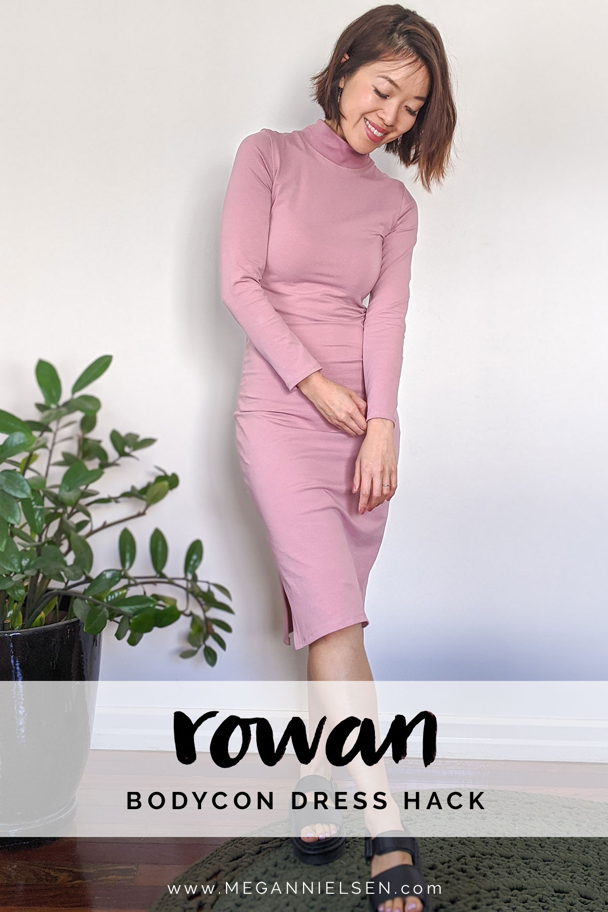 Hacking your Rowan pattern into a bodycon dress!