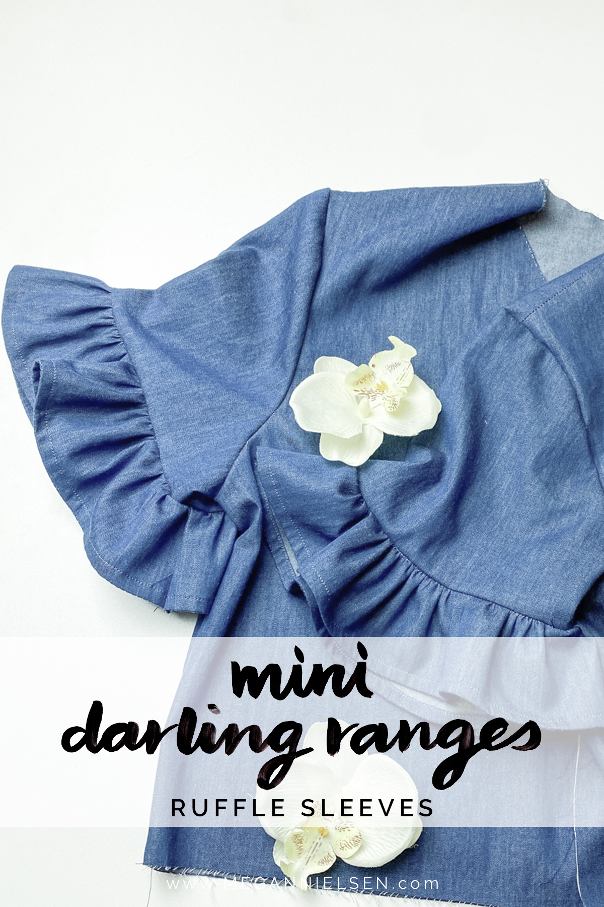 How to Add Ruffle Sleeves to the Mini Darling Ranges Dress