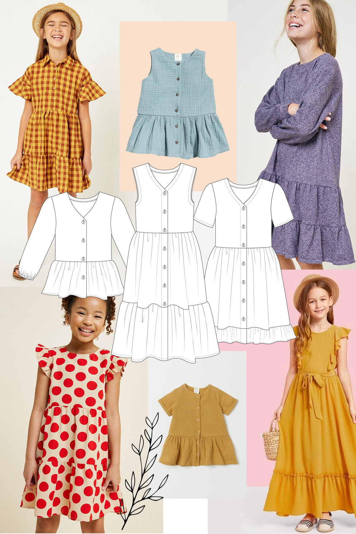 Add a tier to your Mini Darling Ranges to make a longer dress!