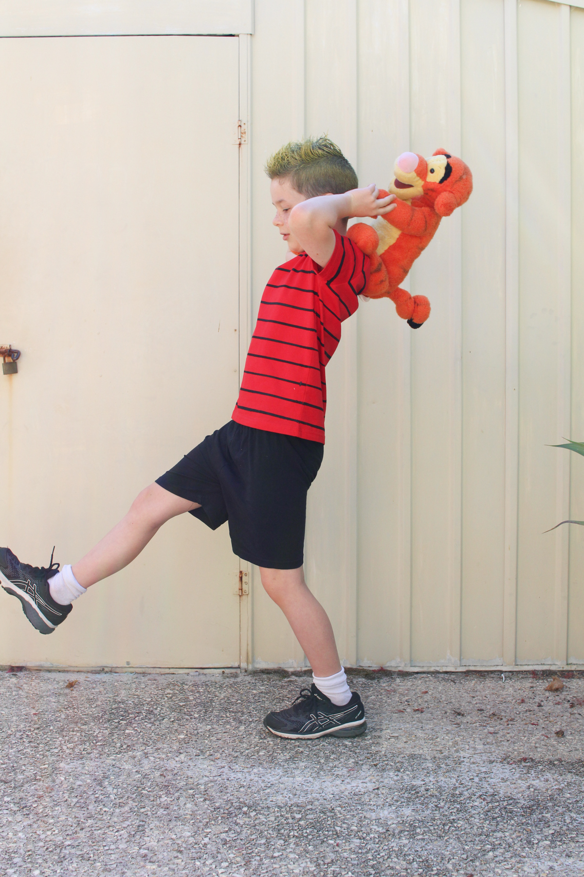 Easy Calvin and Hobbes DIY costume for Book Week or Halloween
