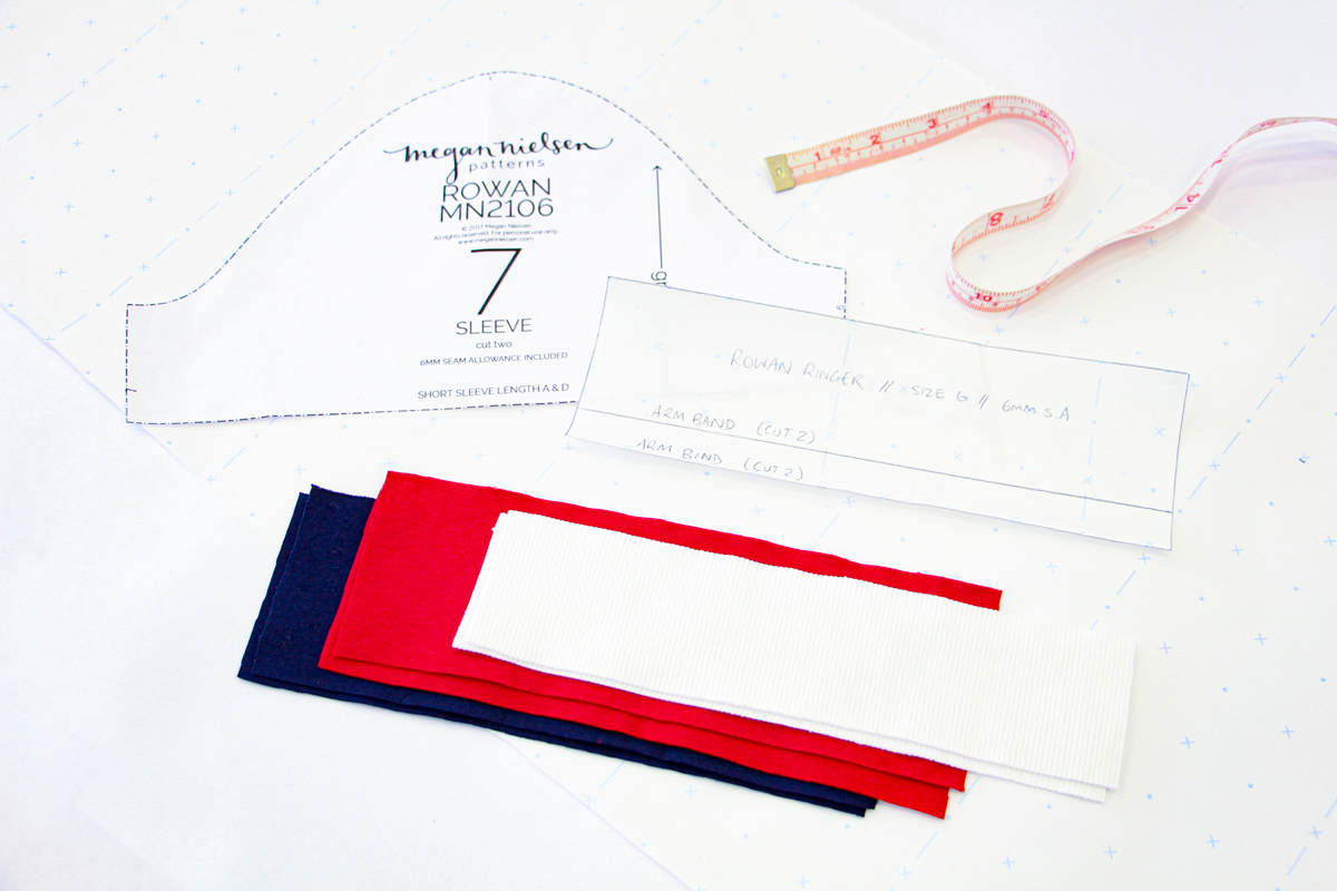 How To Make A Rowan Ringer Tee - Calculating Your Sleeve Band & Bind Length