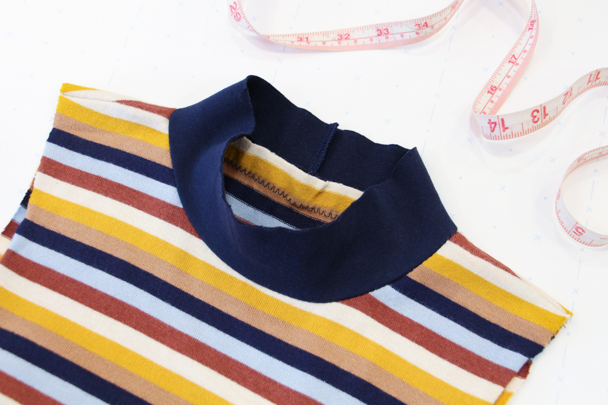 How To Make A Rowan Ringer Tee - Press Your Bind And Seam Allowances Upwards
