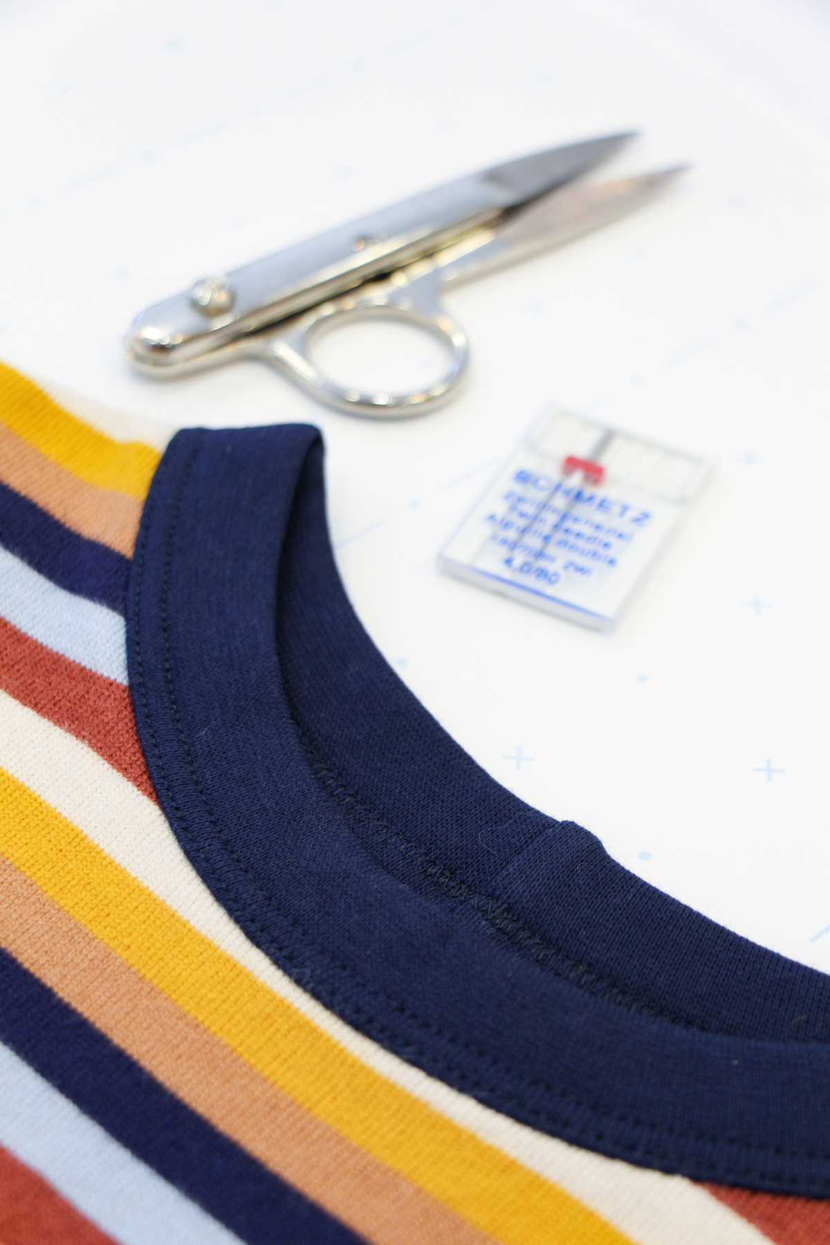 How To Make A Rowan Ringer Tee - Top Stitch Around Your Bind